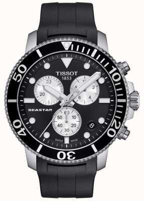Tissot Herren Seastar 1000 Quarz Chronograph schwarz / Kautschukband T1204171705100