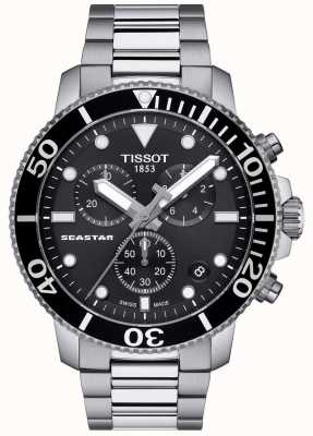 Tissot Seastar 1000 Quarz Chronograph schwarz / Edelstahl T1204171105100