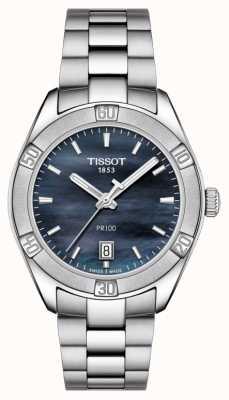 Tissot Damen Pr 100 Sport Chic 36mm Edelstahl blau T1019101112100
