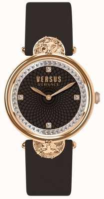 Versus Versace Viktorianisches Hafen-Burgunderlederband der Frauen SP33150018