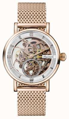 Ingersoll Herren Herold automatische Roségold pvd plattierte Mesh Armband I00406