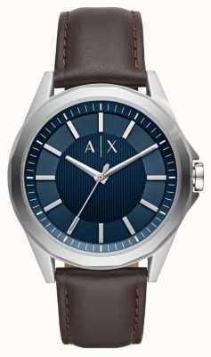 Armani Exchange Armani Austausch Herren Kleid Uhr braunen Riemen AX2622