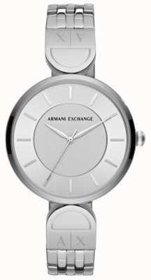 Armani Exchange Damen Kleid Uhr aus Edelstahl AX5327