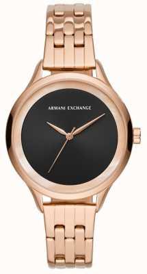 Armani Exchange Damen Kleid Uhr Roségold AX5606