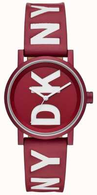 DKNY Damen Soho sehen rotes Leder an NY2774