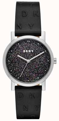 DKNY Dkny Damen Soho Uhr schwarzes Lederarmband NY2775