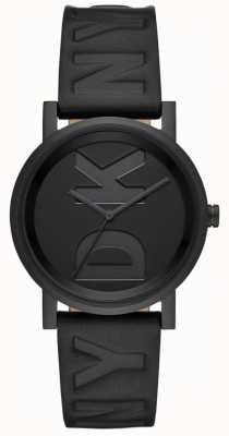 DKNY Damen Soho Uhr schwarzes Lederarmband NY2783