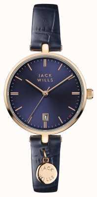 Jack Wills Damen bennett blaues Zifferblatt blau Lederband JW005BLRG