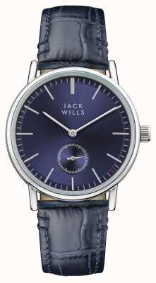 Jack Wills Blaues Lederarmband mit blauem Zifferblatt für Damen JW007BLSS