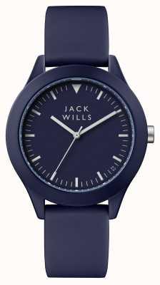 Jack Wills Mens Union blaues Zifferblatt blau Silikonband JW009BLBL