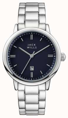 Jack Wills Womens raleigh blaues Zifferblatt Edelstahlarmband JW010BLSS
