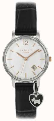 Radley Damenuhr Silbergehäuse schwarzes Armband RY2717