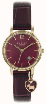 Radley Damenuhr Roségoldgehäuse lila Armband RY2718