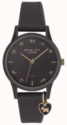 Radley Damen lila Silikonuhr mit blass goldfarbenen Markern RY2696