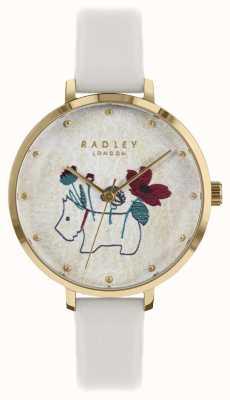 Radley Damenuhr Blume und Hund Druck Kreideband RY2684