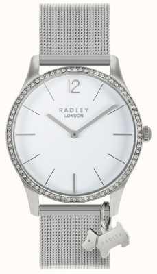 Radley Damen Swarovski Kristalle weißes Zifferblatt aus Edelstahl RY4353