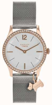 Radley Damen Swarovski Kristalle silberweißes Zifferblatt RY4351
