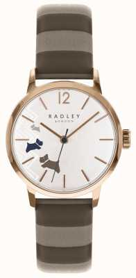 Radley Damen Daten Hund Rose Gold Satin Zifferblatt RY2674