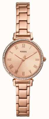 Fossil | Frauen | kinsey | Kristall gesetzt | roségoldfarbene Uhr | ES4447