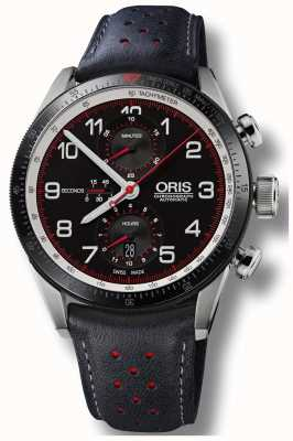 Oris Colobra Limited Edition Automatik Chronograph schwarzes Leder 01 774 7661 4484-SET