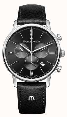 Maurice Lacroix Eliros Chronograph Herren schwarzes Zifferblatt EL1098-SS001-310-1