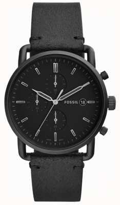 Fossil Herren schwarzes Leder FS5504