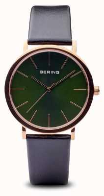 Bering Classic | schwarzes Armband aus poliertem Roségold 13436-469