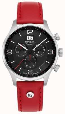 Bruno Sohnle Padua Chronograph | rotes Lederband 17-13196-723