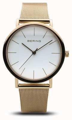 Bering Damenuhr klassisches Uhrgold 13436-334