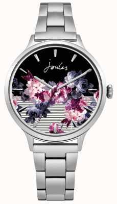Joules Womens Flora Edelstahlarmband floral Zifferblatt JSL002SM