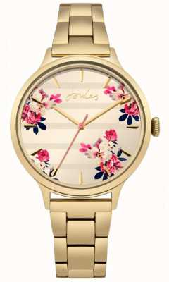 Joules Womens Flora Gold pvd Armband mit Blumenmuster JSL002GM