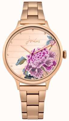 Joules Womens Flora Rose Gold PVD Armband floral Zifferblatt JSL002RGM