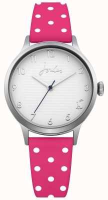 Joules Silbernes silbernes Armband mit pinkfarbenem Polka Dot für Damen JSL009P