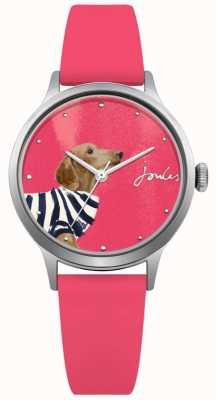 Joules Womens rosa Silikonband rosa Zifferblatt JSL010P