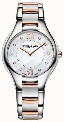 Raymond Weil Damen Noemia Diamant Zifferblatt zweifarbig Armband 5132-SP5-00985