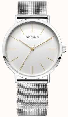 Bering Klassische Kollektion Uhr mit Mesh-Band und Scratch Resista 13436-001