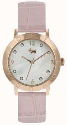 Damen Radley Highgate Holz Uhr Roségold rosa Band RY2538