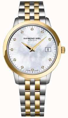 Raymond Weil Damen Toccata Diamant Zifferblatt zweifarbig Armband 5388-STP-97081