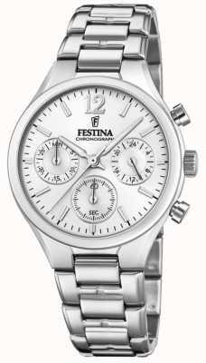 Festina Womens Boyfriend Chronograph Edelstahl F20391/1