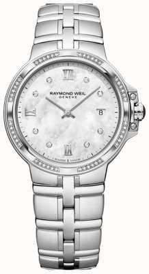 Raymond Weil Parsifal Damen Quarz klassisch | 56 diamant | Perlmutt 5180-STS-00995