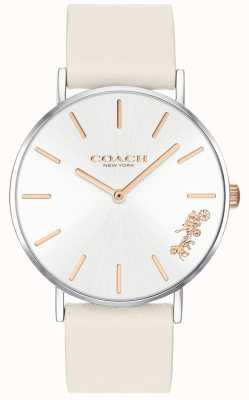 Coach Damen Perry Uhr | Kreide weißes Leder | weißes Zifferblatt 14503117