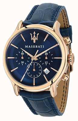 Maserati Mens epoca 42mm | blaues Zifferblatt | blaues Lederband R8871618007