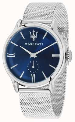 Maserati Mens epoca 42mm | blaues Zifferblatt | Armband aus Silbergeflecht R8853118006