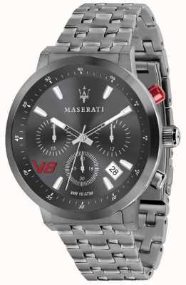 Maserati Herren GT 44mm | graues Zifferblatt | graues Edelstahlarmband R8873134001