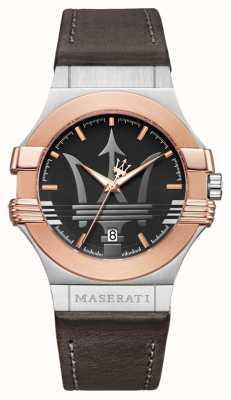 Maserati Mens Potenza 42mm | vergoldeter Edelstahl | brauner str R8851108014