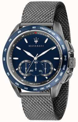 Maserati Traguardo der Männer 45mm | blaues Zifferblatt | graues Mesh-Armband R8873612009