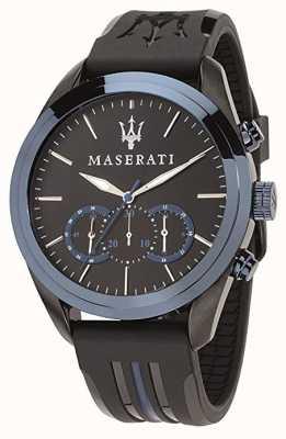 Maserati Der traguardo Chronograph der Männer | blaues Zifferblatt | schwarzes Silikon R8871612006