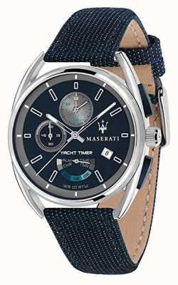 Maserati Trimarano-Schaltuhr 41 | blaues Zifferblatt | blauer Stoffriemen R8851132001