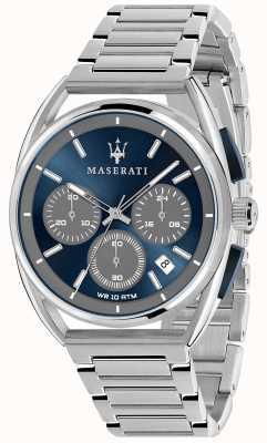 Maserati Herren Trimarano 41mm | blaues Zifferblatt | Edelstahlarmband R8873632004