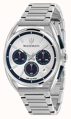 Maserati Herren Trimarano 41mm | silber / blaues Zifferblatt | rostfreier Stahl R8873632001